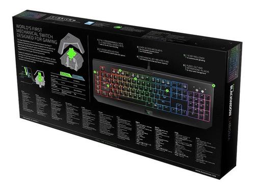teclado mecânico gamer razer blackwidow chroma green switch