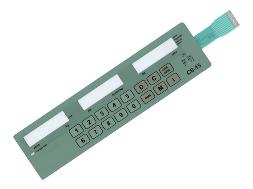 teclado membrana balança filizola cs-15 bateria verde