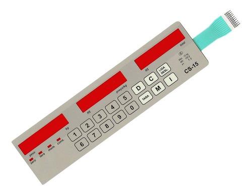 teclado membrana balança filizola cs-15 led classe i i i