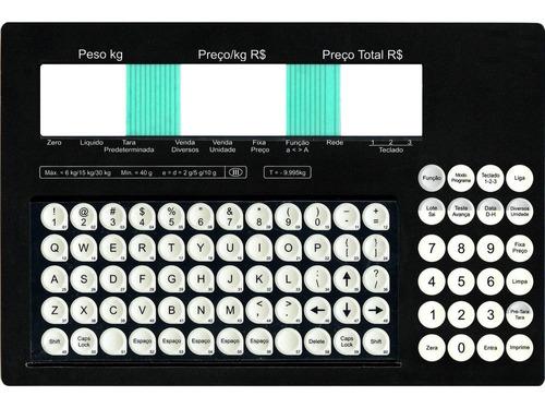 teclado membrana balança toledo prix 4 due preta