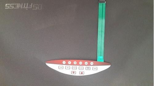 teclado membrana botoes esteira bs fitness xt-6200