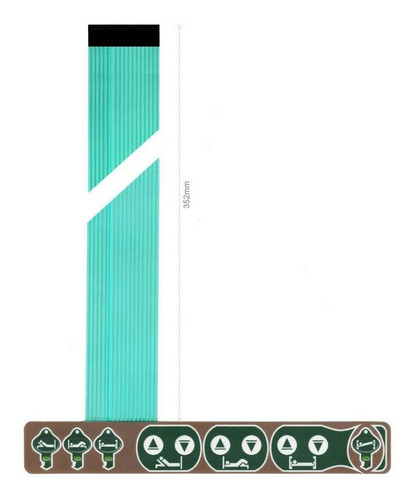 teclado membrana comando cama hospitalar stryker fl23e fl23e
