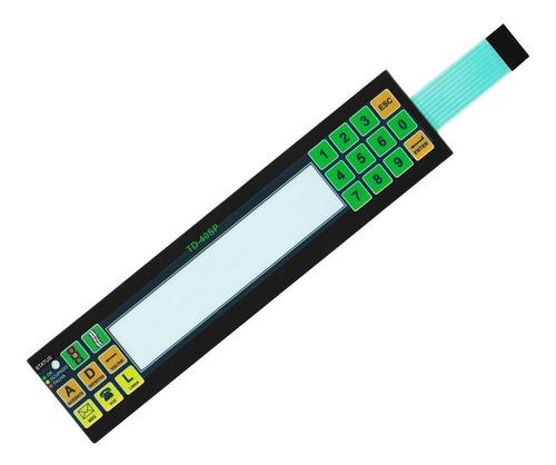 teclado membrana controle terminal de dados newtrack td-40sp