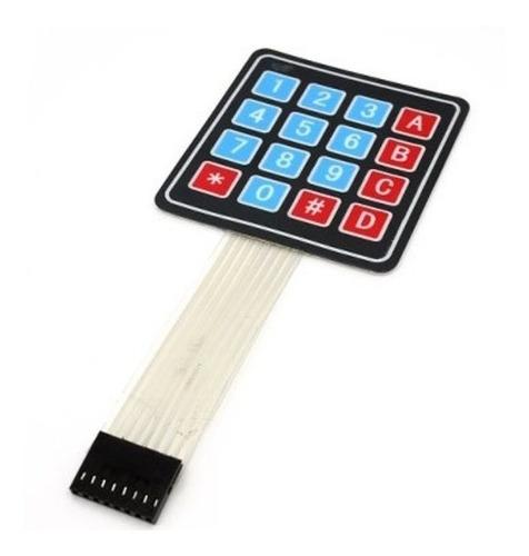 teclado membrana matricial 4x4 keypad arduino autoadhesivo
