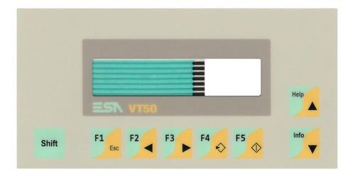 teclado membrana painel comando ihm operador esa vt05000000n