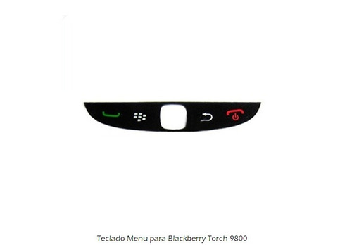 teclado menu para blackberry torch 9800 blanco y negro