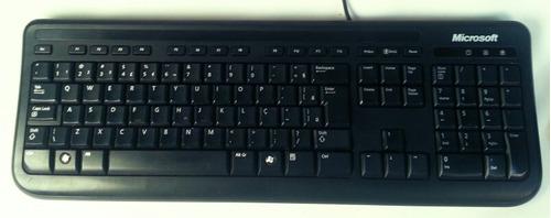 teclado microsoft com fio usb