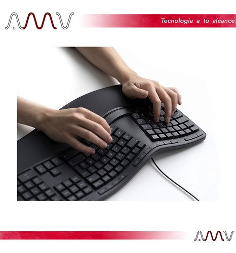 teclado microsoft ergonómico lxn-00003 usb amv