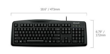 teclado microsoft usb wired 200 6jh-00004 español