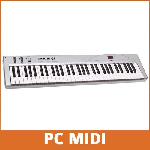 teclado midi usb midiplus 61u 61 teclas sensitivas