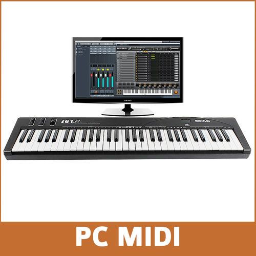 teclado midi usb midiplus i61 5 octavas sensitivo 61 teclas