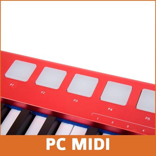 teclado midi usb midiplus x6 pro 61 teclas + soporte tijera