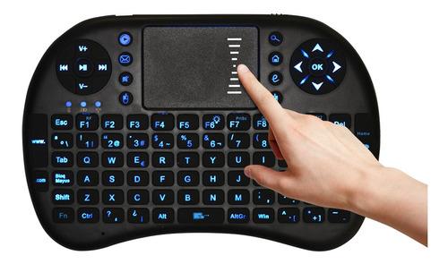 teclado mini inalambrico +luz smart tv control remoto qwerty
