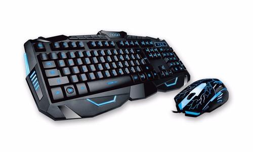teclado mouse gamer noganet retroiluminado usb  cons stock