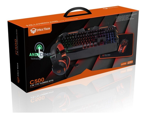 teclado, mouse, headset, pad combo gamers meetion c500