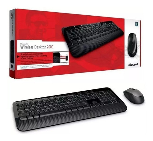 teclado + mouse inalambrico microsoft 2000 español