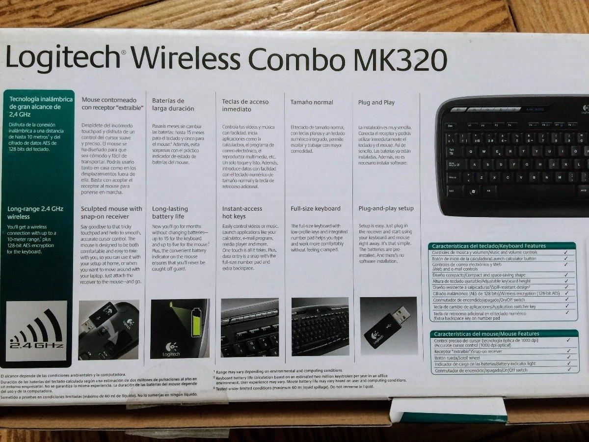 Kit Teclado Y Mouse Inalámbrico Logitech Mk320 En Caja - $ 799,00
