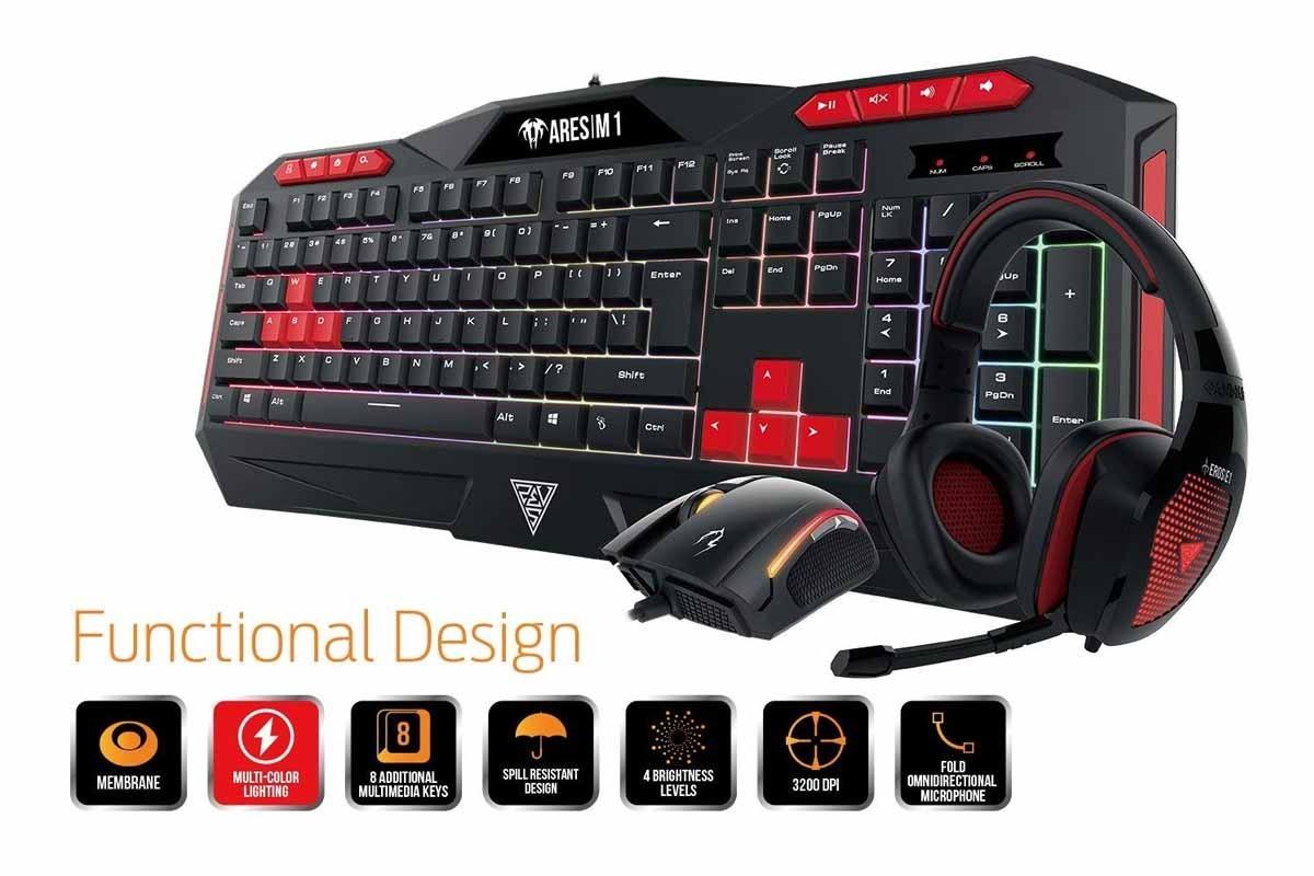 kit gamer gamdias poseidon m1 teclado mouse diadema micro a en mercado libre. Black Bedroom Furniture Sets. Home Design Ideas