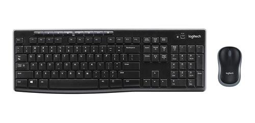 teclado mouse logitech mk270 negro inalambricos usb para pc
