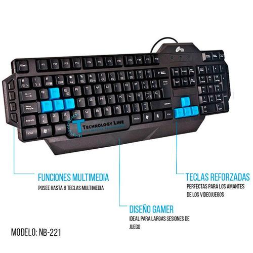 teclado mouse noga