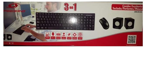 teclado + mouse + parlantes usb speedmind combo 3 en 1