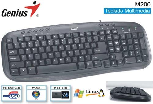teclado multimedia marca genius modelo kb-m200 usb espanol