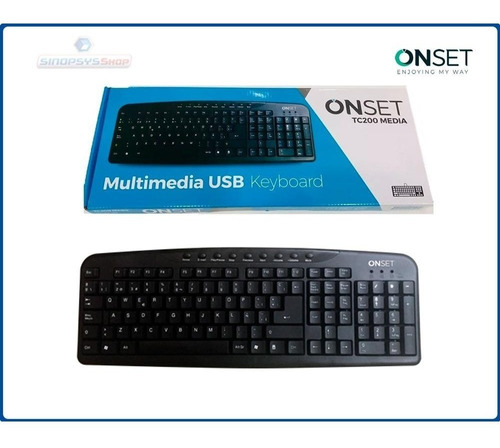 teclado multimedia onset tc200 usb