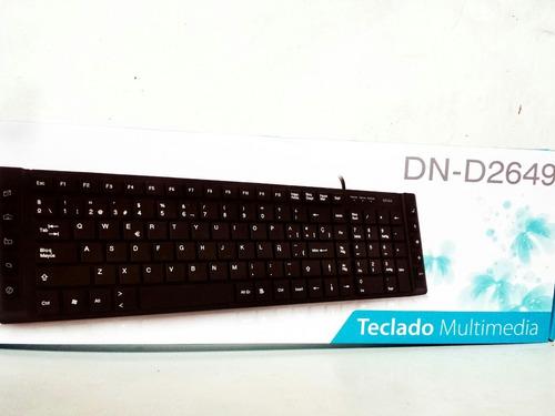 teclado multimedia plano seisa  usb trae ñ cable 1.50 m