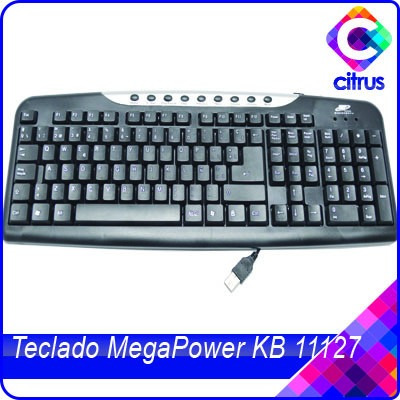 teclado multimedia usb negro megapower kb11127