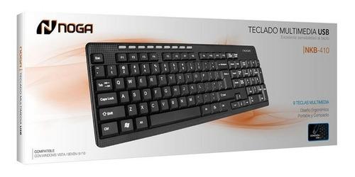 teclado multimedia usb noga usb nkb-410