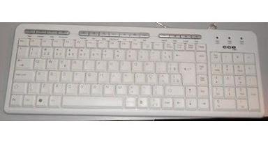 teclado multimida cce branco ps2 novo