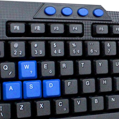 teclado multimídia usb a prova d'água haiz-536 pc notebook
