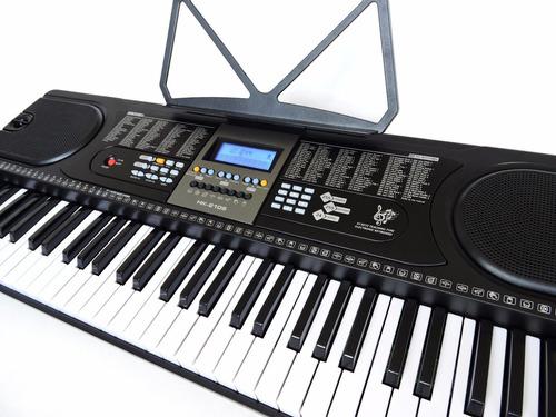 teclado musical arranjador - 61 teclas hk 2106 - lcd+ fonte