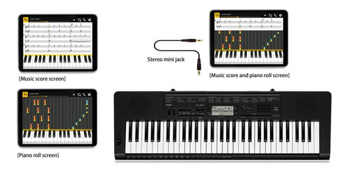 teclado musical casio digital preto ctk-3500k2-br
