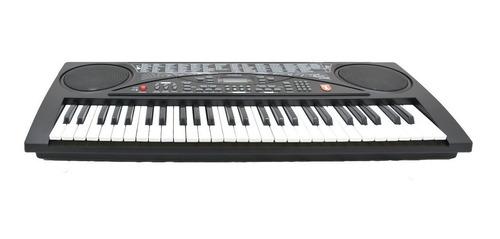 teclado musical con 54 teclas micrófono display lcd kaiser
