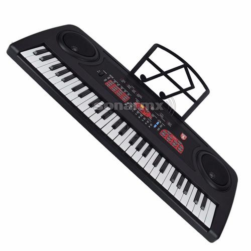 teclado musical con 54 teclas y micrófono kaiser