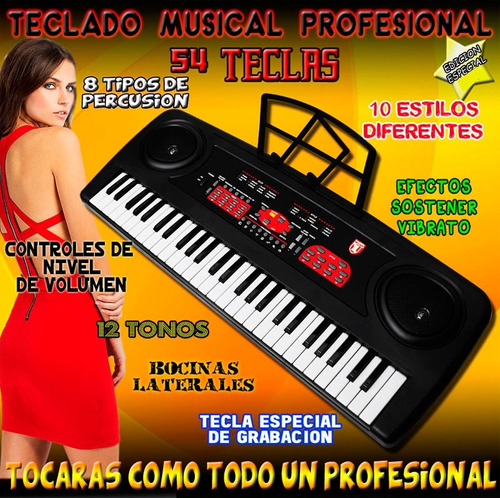 teclado musical fabulosos regalos es genial  es vecctronica