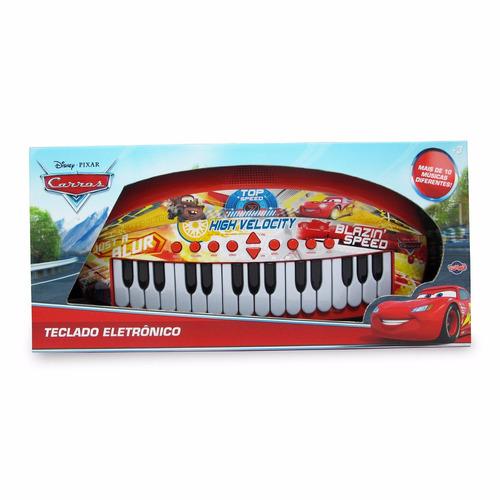 teclado musical infantil carros disney - eletronico toyng