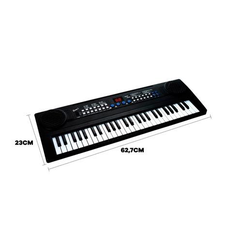 teclado musical infantil iniciantes queen's 54 teclas led