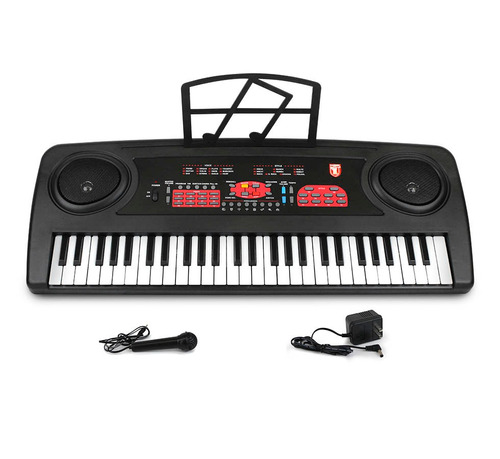 teclado musical kaiser 54 teclas micrófono base partituras