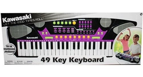 teclado musical kawasaki organeta de 49 teclas piano
