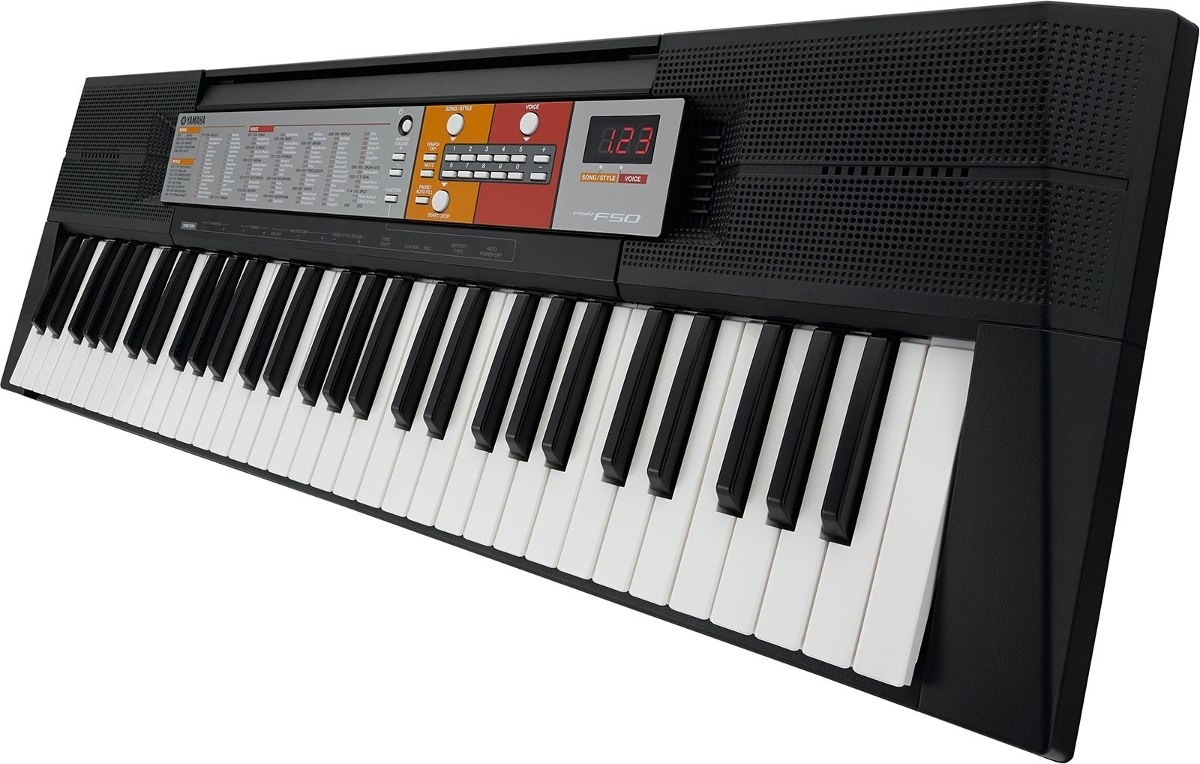teclado musical psr f50 yamaha 5 8 fonte brasil r 729 90 em mercado livre. Black Bedroom Furniture Sets. Home Design Ideas