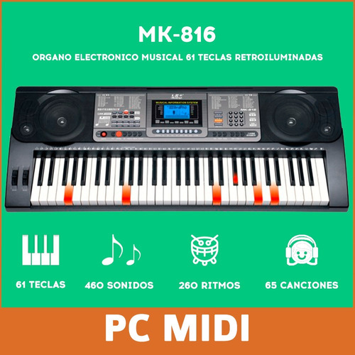 teclado musical soporte piano