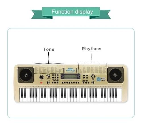 teclado musical usb led gravador eletronico karaoke piano