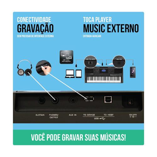 teclado musical yamaha psr e453 61 teclas c/ fonte original