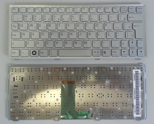 teclado net sony vaio vpcw vpcw121ad abnt2 com ç prata