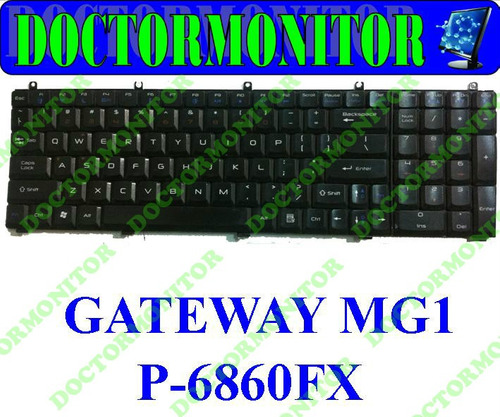 teclado notebook gateway mg1 / p-6860fx - usado
