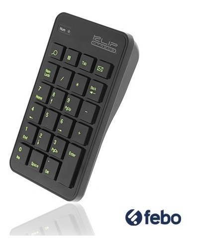 teclado numérico inalámbrico klip xtreme notebook mac febo