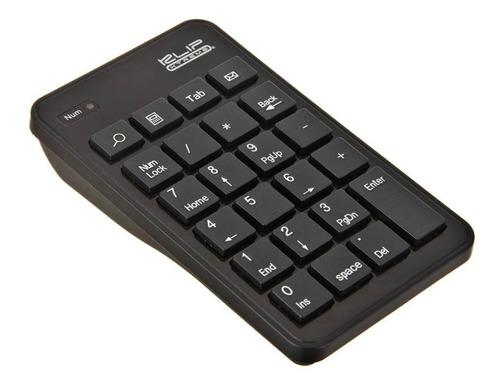 teclado numérico klip zypher inalámbrico de tamaño natural