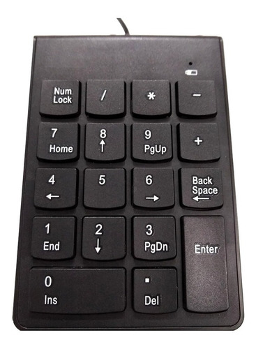 teclado numerico kolke cable usb pc notebook oficina